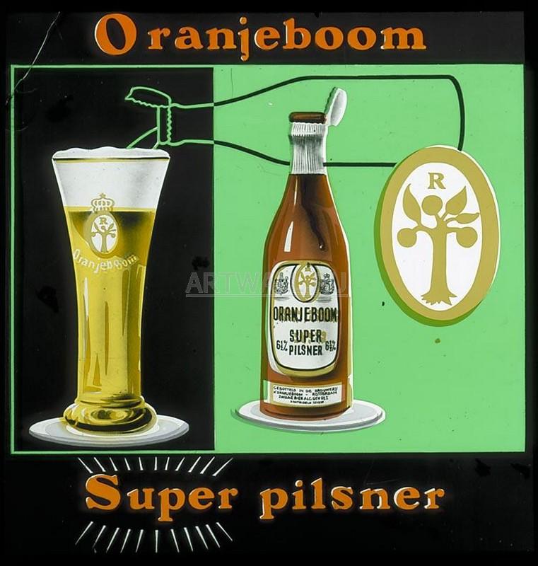 Постер Пиво - ретро реклама
