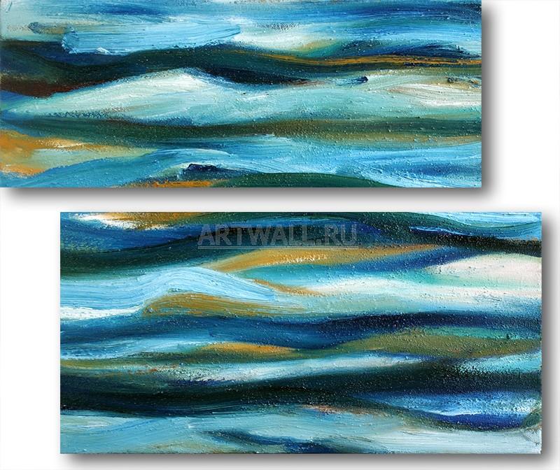 Модульная картина «Морская пучина»Абстракция<br>Модульная картина на натуральном холсте и деревянном подрамнике. Подвес в комплекте. Трехслойная надежная упаковка. Доставим в любую точку России. Вам осталось только повесить картину на стену!<br>