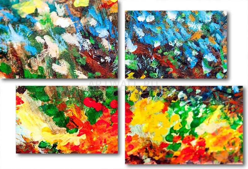 Модульная картина «Город сквозь дождь»Абстракция<br>Модульная картина на натуральном холсте и деревянном подрамнике. Подвес в комплекте. Трехслойная надежная упаковка. Доставим в любую точку России. Вам осталось только повесить картину на стену!<br>