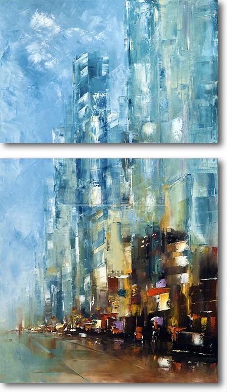 Модульная картина «Город через стекло»Города<br>Модульная картина на натуральном холсте и деревянном подрамнике. Подвес в комплекте. Трехслойная надежная упаковка. Доставим в любую точку России. Вам осталось только повесить картину на стену!<br>