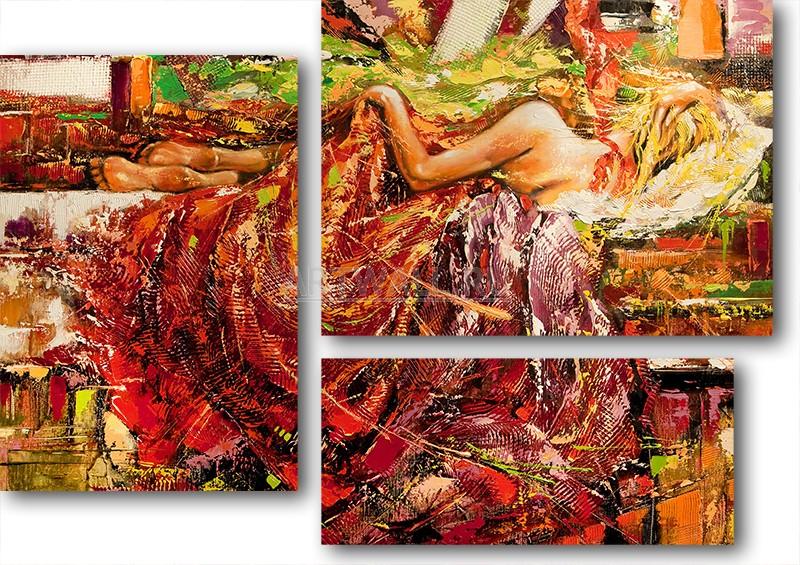 Модульная картина «Перед пробуждением»Люди<br>Модульная картина на натуральном холсте и деревянном подрамнике. Подвес в комплекте. Трехслойная надежная упаковка. Доставим в любую точку России. Вам осталось только повесить картину на стену!<br>
