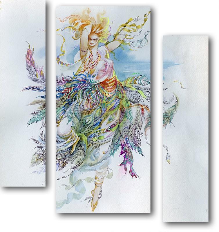 Модульная картина «В танце»Люди<br>Модульная картина на натуральном холсте и деревянном подрамнике. Подвес в комплекте. Трехслойная надежная упаковка. Доставим в любую точку России. Вам осталось только повесить картину на стену!<br>