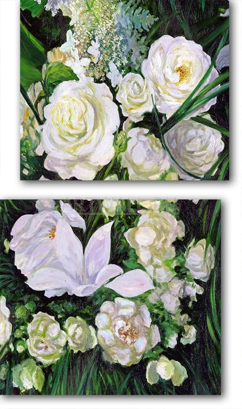 Модульная картина «Дикие розы»Цветы<br>Модульная картина на натуральном холсте и деревянном подрамнике. Подвес в комплекте. Трехслойная надежная упаковка. Доставим в любую точку России. Вам осталось только повесить картину на стену!<br>