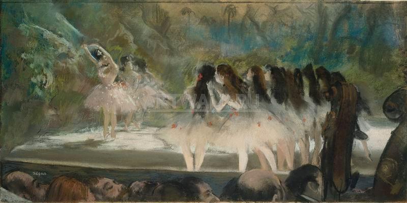 Дега Эдгар, картина Балет в Парижской опереДега Эдгар<br>Репродукция на холсте или бумаге. Любого нужного вам размера. В раме или без. Подвес в комплекте. Трехслойная надежная упаковка. Доставим в любую точку России. Вам осталось только повесить картину на стену!<br>