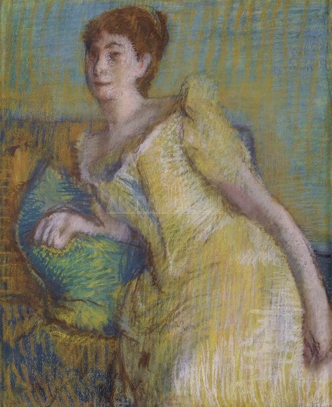 Дега Эдгар, картина Женщина в жёлтомДега Эдгар<br>Репродукция на холсте или бумаге. Любого нужного вам размера. В раме или без. Подвес в комплекте. Трехслойная надежная упаковка. Доставим в любую точку России. Вам осталось только повесить картину на стену!<br>