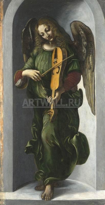 Да Винчи Леонардо, картина Ангел в зеленом, 20x39 см, на бумагеДа Винчи Леонардо<br>Постер на холсте или бумаге. Любого нужного вам размера. В раме или без. Подвес в комплекте. Трехслойная надежная упаковка. Доставим в любую точку России. Вам осталось только повесить картину на стену!<br>