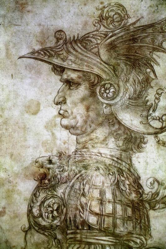 Да Винчи Леонардо, картина Голова воина в шлемеДа Винчи Леонардо<br>Репродукция на холсте или бумаге. Любого нужного вам размера. В раме или без. Подвес в комплекте. Трехслойная надежная упаковка. Доставим в любую точку России. Вам осталось только повесить картину на стену!<br>