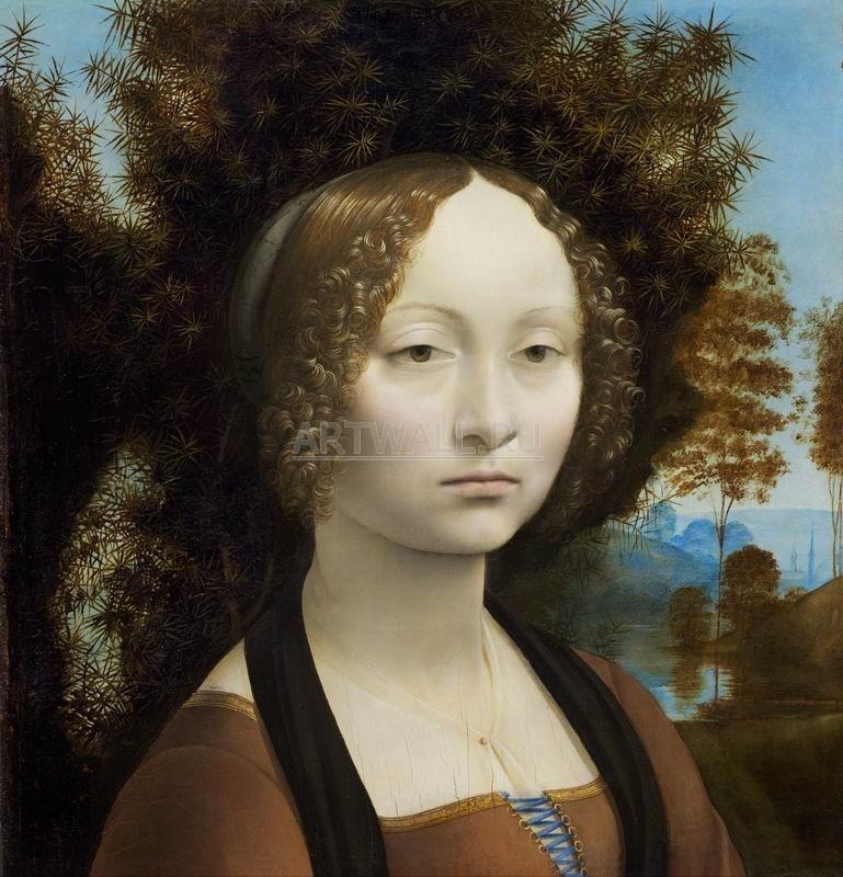 Да Винчи Леонардо, картина Джиневра ди БенчиДа Винчи Леонардо<br>Репродукция на холсте или бумаге. Любого нужного вам размера. В раме или без. Подвес в комплекте. Трехслойная надежная упаковка. Доставим в любую точку России. Вам осталось только повесить картину на стену!<br>