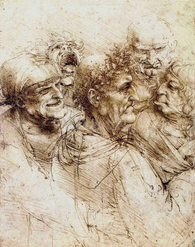 Да Винчи Леонардо, картина Пять гротескных головДа Винчи Леонардо<br>Репродукция на холсте или бумаге. Любого нужного вам размера. В раме или без. Подвес в комплекте. Трехслойная надежная упаковка. Доставим в любую точку России. Вам осталось только повесить картину на стену!<br>