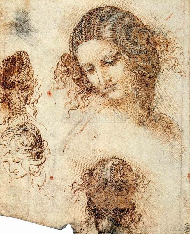 Да Винчи Леонардо, картина Эскизы головы ЛедыДа Винчи Леонардо<br>Репродукция на холсте или бумаге. Любого нужного вам размера. В раме или без. Подвес в комплекте. Трехслойная надежная упаковка. Доставим в любую точку России. Вам осталось только повесить картину на стену!<br>
