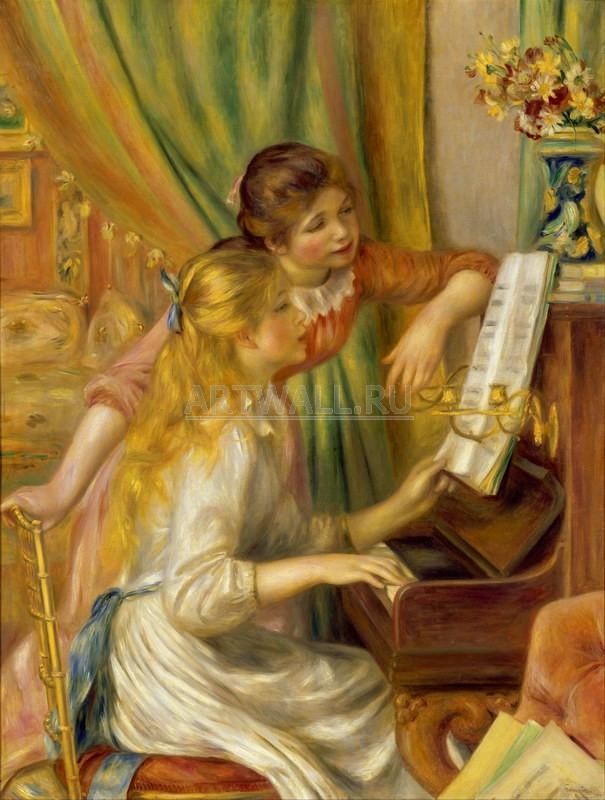 Ренуар Огюст, картина Девушки у пианиноРенуар Огюст<br>Репродукция на холсте или бумаге. Любого нужного вам размера. В раме или без. Подвес в комплекте. Трехслойная надежная упаковка. Доставим в любую точку России. Вам осталось только повесить картину на стену!<br>