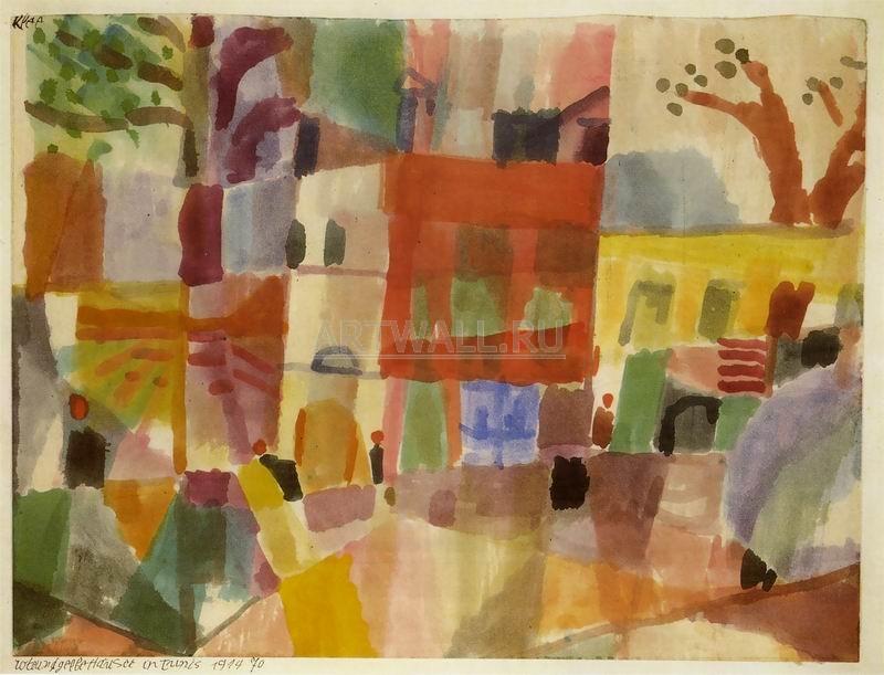 Клее Пауль, картина Красные и желтые дома в ТунисеКлее Пауль<br>Репродукция на холсте или бумаге. Любого нужного вам размера. В раме или без. Подвес в комплекте. Трехслойная надежная упаковка. Доставим в любую точку России. Вам осталось только повесить картину на стену!<br>