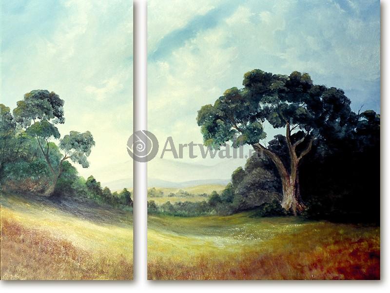 Модульная картина «Два дерева»Природа<br>Модульная картина на натуральном холсте и деревянном подрамнике. Подвес в комплекте. Трехслойная надежная упаковка. Доставим в любую точку России. Вам осталось только повесить картину на стену!<br>