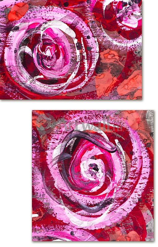 Модульная картина «Абстракция роз»Абстракция<br>Модульная картина на натуральном холсте и деревянном подрамнике. Подвес в комплекте. Трехслойная надежная упаковка. Доставим в любую точку России. Вам осталось только повесить картину на стену!<br>