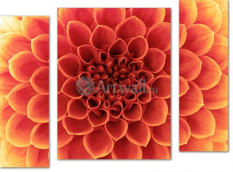 Модульная картина «Солнечный цветок»Цветы<br>Модульная картина на натуральном холсте и деревянном подрамнике. Подвес в комплекте. Трехслойная надежная упаковка. Доставим в любую точку России. Вам осталось только повесить картину на стену!<br>