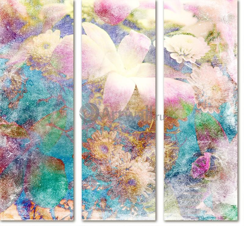 Модульная картина «Гербарий»Цветы<br>Модульная картина на натуральном холсте и деревянном подрамнике. Подвес в комплекте. Трехслойная надежная упаковка. Доставим в любую точку России. Вам осталось только повесить картину на стену!<br>
