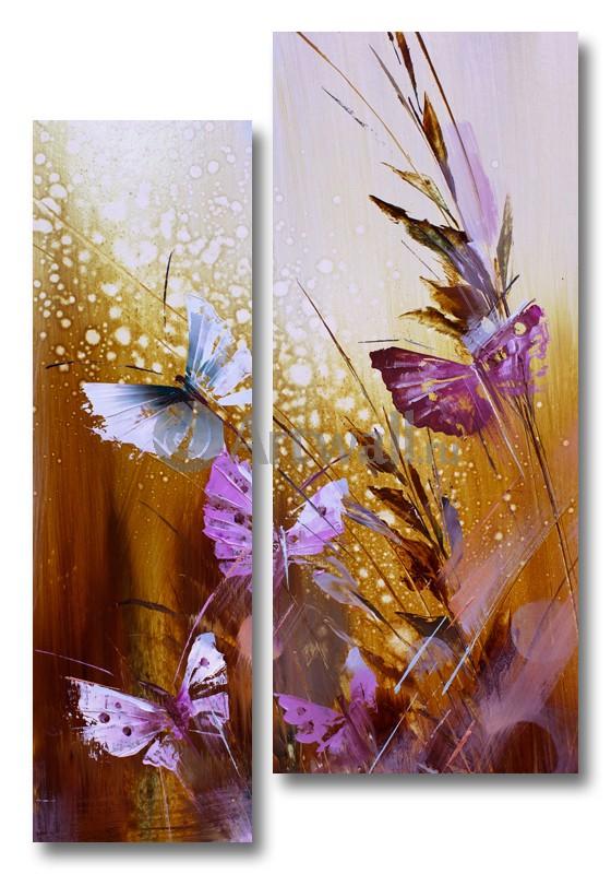 Модульная картина «Бабочки в траве»Природа<br>Модульная картина на натуральном холсте и деревянном подрамнике. Подвес в комплекте. Трехслойная надежная упаковка. Доставим в любую точку России. Вам осталось только повесить картину на стену!<br>