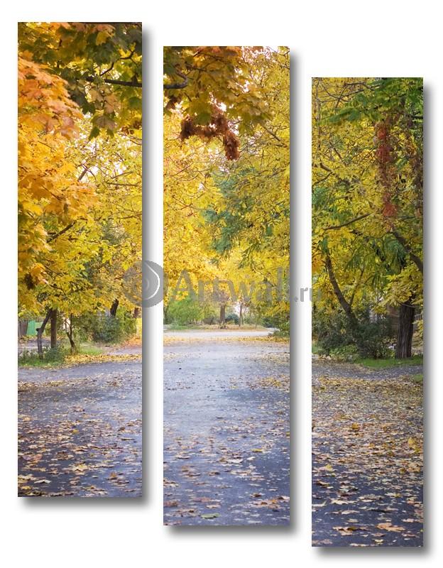 Модульная картина «Падают листья»Природа<br>Модульная картина на натуральном холсте и деревянном подрамнике. Подвес в комплекте. Трехслойная надежная упаковка. Доставим в любую точку России. Вам осталось только повесить картину на стену!<br>