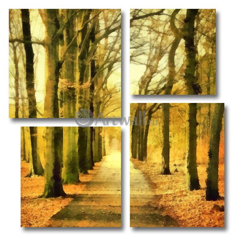 Модульная картина «Осеннее утро»Природа<br>Модульная картина на натуральном холсте и деревянном подрамнике. Подвес в комплекте. Трехслойная надежная упаковка. Доставим в любую точку России. Вам осталось только повесить картину на стену!<br>