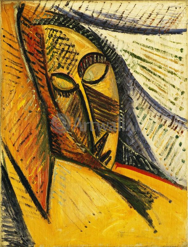 Пикассо Пабло, картина Голова спящей женщиныПикассо Пабло<br>Репродукция на холсте или бумаге. Любого нужного вам размера. В раме или без. Подвес в комплекте. Трехслойная надежная упаковка. Доставим в любую точку России. Вам осталось только повесить картину на стену!<br>