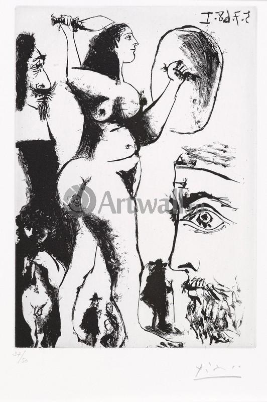 Пикассо Пабло, картина Дерущиеся женщиныПикассо Пабло<br>Репродукция на холсте или бумаге. Любого нужного вам размера. В раме или без. Подвес в комплекте. Трехслойная надежная упаковка. Доставим в любую точку России. Вам осталось только повесить картину на стену!<br>