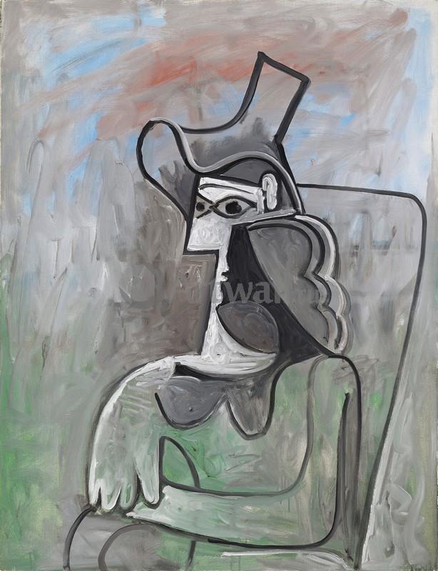 Пикассо Пабло, картина ЖаклинПикассо Пабло<br>Репродукция на холсте или бумаге. Любого нужного вам размера. В раме или без. Подвес в комплекте. Трехслойная надежная упаковка. Доставим в любую точку России. Вам осталось только повесить картину на стену!<br>