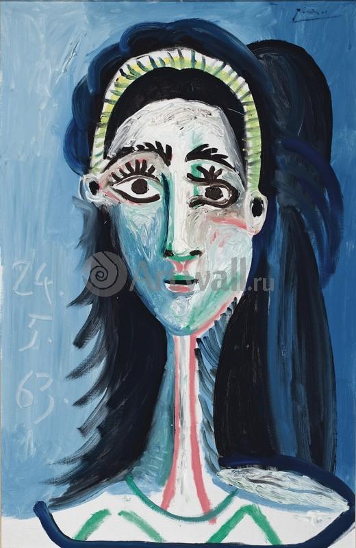 Пикассо Пабло, картина Женский портретПикассо Пабло<br>Репродукция на холсте или бумаге. Любого нужного вам размера. В раме или без. Подвес в комплекте. Трехслойная надежная упаковка. Доставим в любую точку России. Вам осталось только повесить картину на стену!<br>
