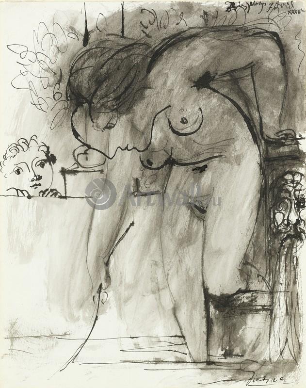 Пикассо Пабло, картина Женщина в ваннойПикассо Пабло<br>Репродукция на холсте или бумаге. Любого нужного вам размера. В раме или без. Подвес в комплекте. Трехслойная надежная упаковка. Доставим в любую точку России. Вам осталось только повесить картину на стену!<br>