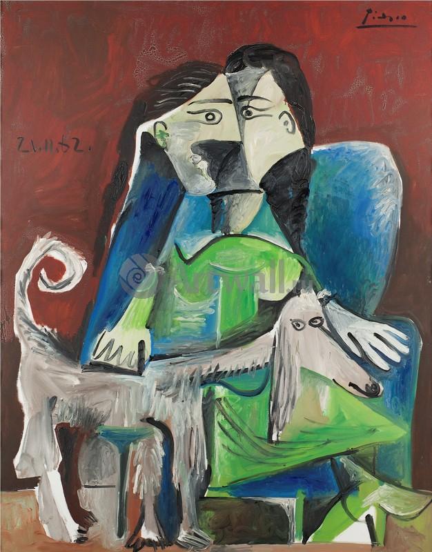 Пикассо Пабло, картина Женщина в кресле и собакаПикассо Пабло<br>Репродукция на холсте или бумаге. Любого нужного вам размера. В раме или без. Подвес в комплекте. Трехслойная надежная упаковка. Доставим в любую точку России. Вам осталось только повесить картину на стену!<br>