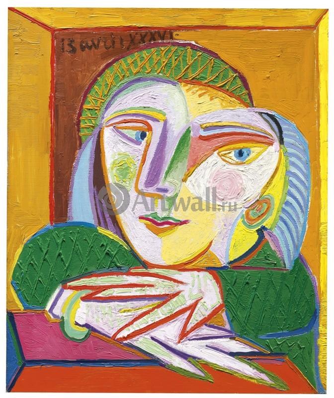 Пикассо Пабло, картина Женщина в окнеПикассо Пабло<br>Репродукция на холсте или бумаге. Любого нужного вам размера. В раме или без. Подвес в комплекте. Трехслойная надежная упаковка. Доставим в любую точку России. Вам осталось только повесить картину на стену!<br>