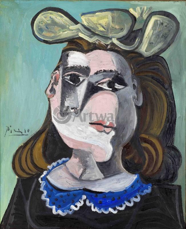 Пикассо Пабло, картина Женщина с синим воротничкомПикассо Пабло<br>Репродукция на холсте или бумаге. Любого нужного вам размера. В раме или без. Подвес в комплекте. Трехслойная надежная упаковка. Доставим в любую точку России. Вам осталось только повесить картину на стену!<br>