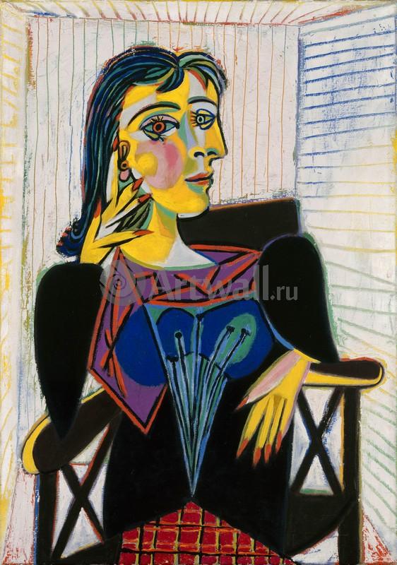 Пикассо Пабло, картина Портрет Доры МаарПикассо Пабло<br>Репродукция на холсте или бумаге. Любого нужного вам размера. В раме или без. Подвес в комплекте. Трехслойная надежная упаковка. Доставим в любую точку России. Вам осталось только повесить картину на стену!<br>