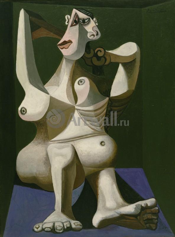 Пикассо Пабло, картина Причесывающаяся женщинаПикассо Пабло<br>Репродукция на холсте или бумаге. Любого нужного вам размера. В раме или без. Подвес в комплекте. Трехслойная надежная упаковка. Доставим в любую точку России. Вам осталось только повесить картину на стену!<br>