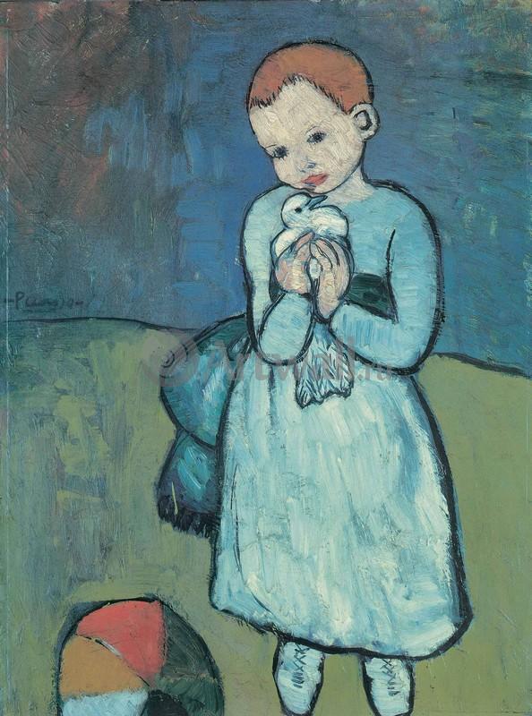 Пикассо Пабло, картина Ребенок с голубемПикассо Пабло<br>Репродукция на холсте или бумаге. Любого нужного вам размера. В раме или без. Подвес в комплекте. Трехслойная надежная упаковка. Доставим в любую точку России. Вам осталось только повесить картину на стену!<br>