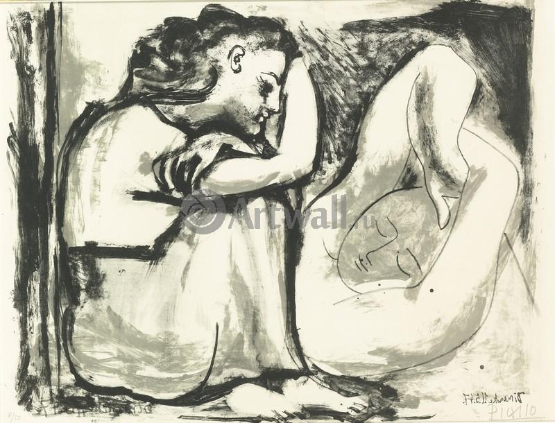 Пикассо Пабло, картина Сидящая женщина и спящая женщинаПикассо Пабло<br>Репродукция на холсте или бумаге. Любого нужного вам размера. В раме или без. Подвес в комплекте. Трехслойная надежная упаковка. Доставим в любую точку России. Вам осталось только повесить картину на стену!<br>
