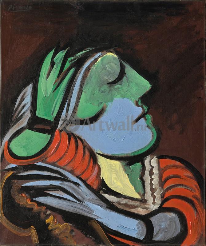 Пикассо Пабло, картина Спящая женщинаПикассо Пабло<br>Репродукция на холсте или бумаге. Любого нужного вам размера. В раме или без. Подвес в комплекте. Трехслойная надежная упаковка. Доставим в любую точку России. Вам осталось только повесить картину на стену!<br>