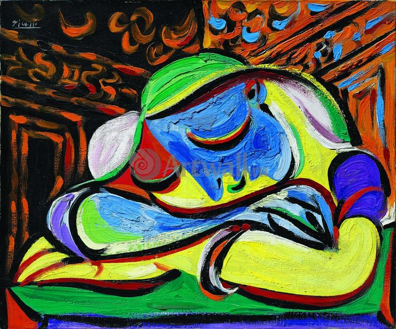 Пикассо Пабло, картина Спящая молодая женщинаПикассо Пабло<br>Репродукция на холсте или бумаге. Любого нужного вам размера. В раме или без. Подвес в комплекте. Трехслойная надежная упаковка. Доставим в любую точку России. Вам осталось только повесить картину на стену!<br>