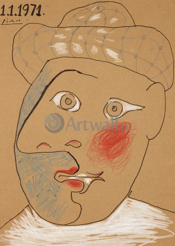 Пикассо Пабло, картина Тете де ПьерроПикассо Пабло<br>Репродукция на холсте или бумаге. Любого нужного вам размера. В раме или без. Подвес в комплекте. Трехслойная надежная упаковка. Доставим в любую точку России. Вам осталось только повесить картину на стену!<br>