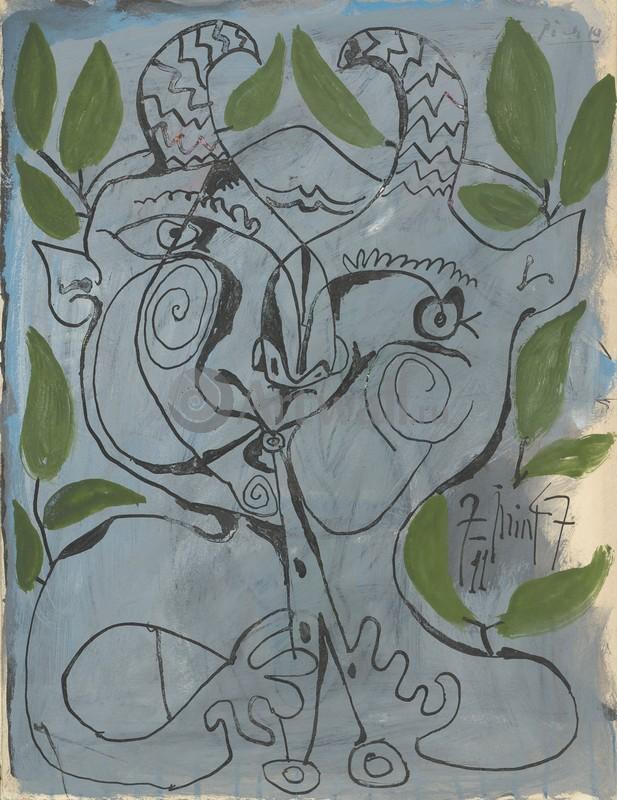 Пикассо Пабло, картина Фавн, играющий на свирелиПикассо Пабло<br>Репродукция на холсте или бумаге. Любого нужного вам размера. В раме или без. Подвес в комплекте. Трехслойная надежная упаковка. Доставим в любую точку России. Вам осталось только повесить картину на стену!<br>