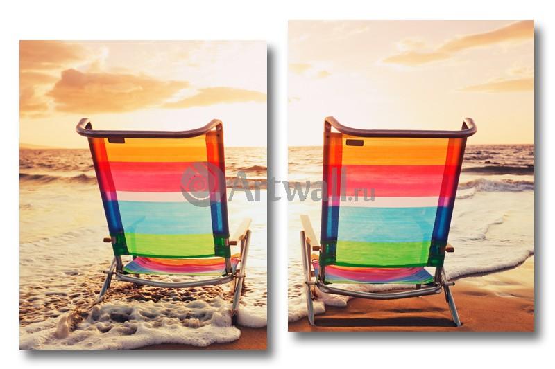 Модульная картина «Созерцая море»Море<br>Модульная картина на натуральном холсте и деревянном подрамнике. Подвес в комплекте. Трехслойная надежная упаковка. Доставим в любую точку России. Вам осталось только повесить картину на стену!<br>