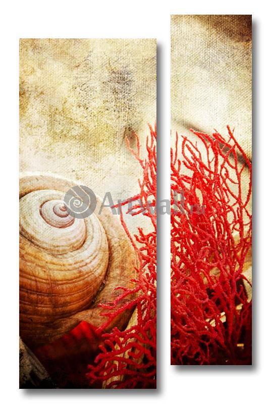 Модульная картина «Воспоминания о море 4»Море<br>Модульная картина на натуральном холсте и деревянном подрамнике. Подвес в комплекте. Трехслойная надежная упаковка. Доставим в любую точку России. Вам осталось только повесить картину на стену!<br>
