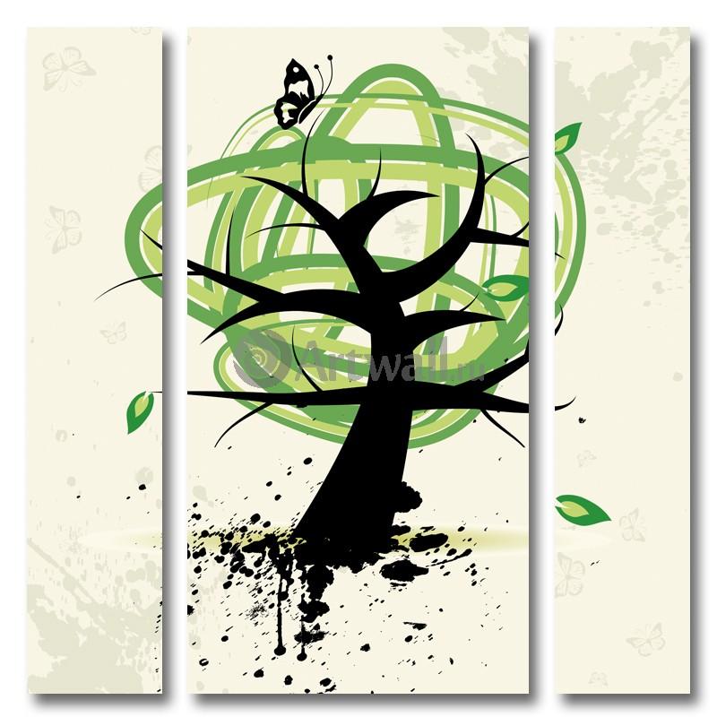 Модульная картина «Зеленая энергия», 50x50 см, модульная картинаАбстракция<br>Модульная картина на натуральном холсте и деревянном подрамнике. Подвес в комплекте. Трехслойная надежная упаковка. Доставим в любую точку России. Вам осталось только повесить картину на стену!<br>