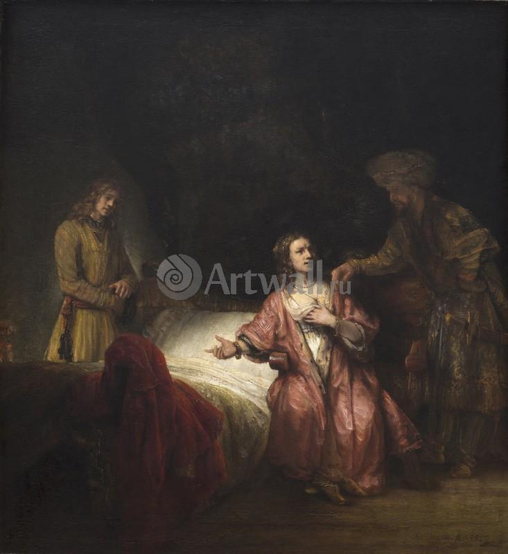 Рембрандт Харменс Ван Рейн, картина Мастерская Рембрандта. Обвинение Иосифа женой Потифара (1655) (105.7 x 97.8) (Вашингтон, Нац. галерея)Рембрандт Харменс Ван Рейн<br>Репродукция на холсте или бумаге. Любого нужного вам размера. В раме или без. Подвес в комплекте. Трехслойная надежная упаковка. Доставим в любую точку России. Вам осталось только повесить картину на стену!<br>