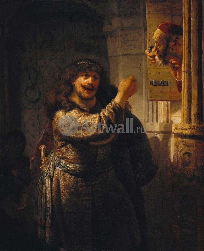 Рембрандт Харменс Ван Рейн, картина Самсон угрожает своему отцуРембрандт Харменс Ван Рейн<br>Репродукция на холсте или бумаге. Любого нужного вам размера. В раме или без. Подвес в комплекте. Трехслойная надежная упаковка. Доставим в любую точку России. Вам осталось только повесить картину на стену!<br>