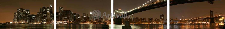 Модульная картина «Манхэттен ночью»Города<br>Модульная картина на натуральном холсте и деревянном подрамнике. Подвес в комплекте. Трехслойная надежная упаковка. Доставим в любую точку России. Вам осталось только повесить картину на стену!<br>