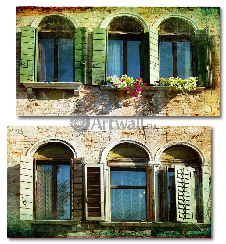 Модульная картина «Окна в Европу»Города<br>Модульная картина на натуральном холсте и деревянном подрамнике. Подвес в комплекте. Трехслойная надежная упаковка. Доставим в любую точку России. Вам осталось только повесить картину на стену!<br>