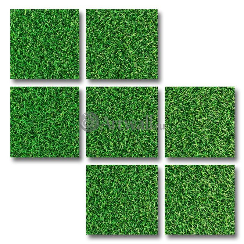 Модульная картина «Трава»Абстракция<br>Модульная картина на натуральном холсте и деревянном подрамнике. Подвес в комплекте. Трехслойная надежная упаковка. Доставим в любую точку России. Вам осталось только повесить картину на стену!<br>