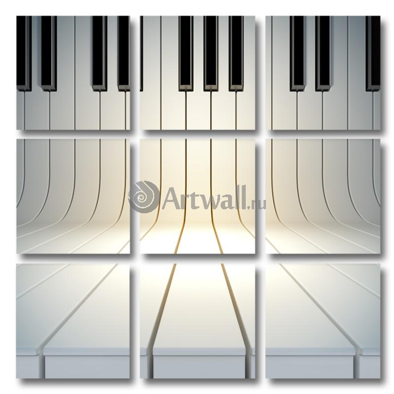 Модульная картина «Фортепиано»Абстракция<br>Модульная картина на натуральном холсте и деревянном подрамнике. Подвес в комплекте. Трехслойная надежная упаковка. Доставим в любую точку России. Вам осталось только повесить картину на стену!<br>