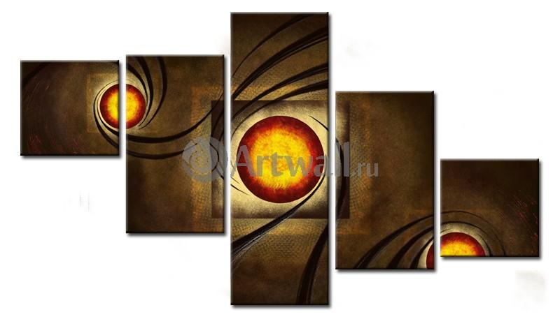 Модульная картина «Вселенные»Абстракция<br>Модульная картина на натуральном холсте и деревянном подрамнике. Подвес в комплекте. Трехслойная надежная упаковка. Доставим в любую точку России. Вам осталось только повесить картину на стену!<br>