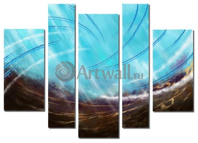Модульная картина «Энергия потока»Абстракция<br>Модульная картина на натуральном холсте и деревянном подрамнике. Подвес в комплекте. Трехслойная надежная упаковка. Доставим в любую точку России. Вам осталось только повесить картину на стену!<br>
